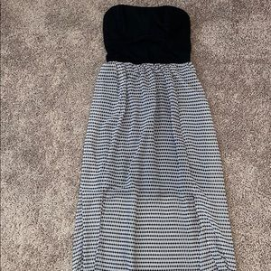Xhilaration Black & White Maxi Dress sz Small
